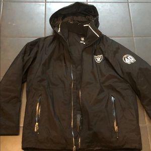 Raiders Heavy Duty Black Parka 60 Year XL Jacket